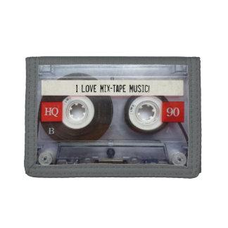 Funny Retro Gray Mixtape Trifold Wallets