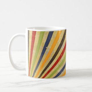 Funny Retro Grunge Rays + your idea Classic White Coffee Mug
