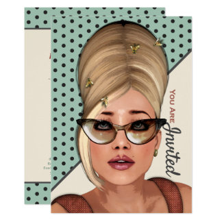 Funny Retro Hair And Beauty Card