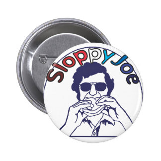 Funny Retro hamburger Sloppy Joe Foodie 2 Inch Round Button