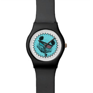 Funny retro panda watch