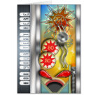 Funny Retro Pinball Machine Personalized Card