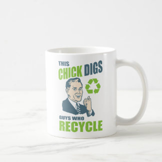 Funny Retro Recycling Slogan Coffee Mug