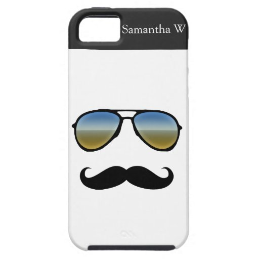 Funny Retro Sunglasses with Moustache iPhone 5 Cover