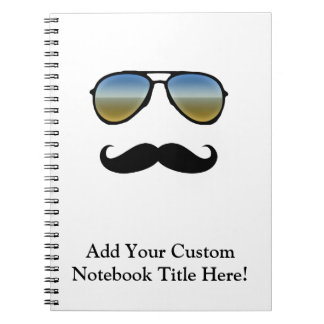 Funny Retro Sunglasses with Moustache Notebooks