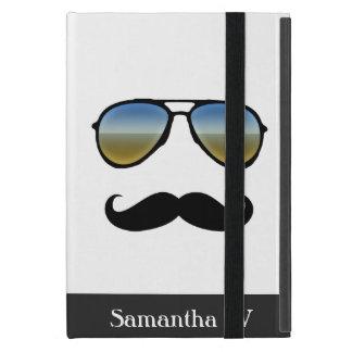 Funny Retro Sunglasses with Mustache Cover For iPad Mini
