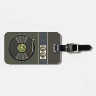 Funny Retro Vinyl Record Luggage Tag