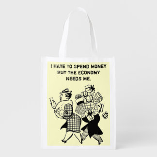 funny reusable tote bag