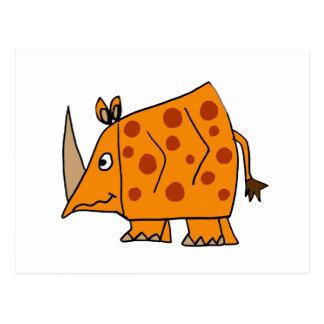 Funny Rhino Cartoon Postcard