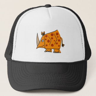 Funny Rhino Cartoon Trucker Hat