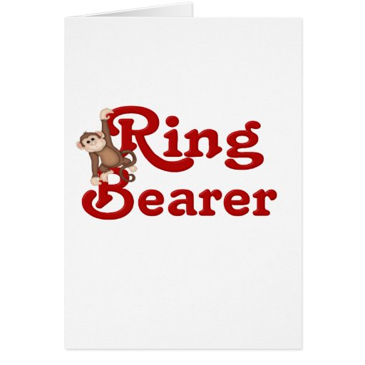 Funny Ring Bearer Cards