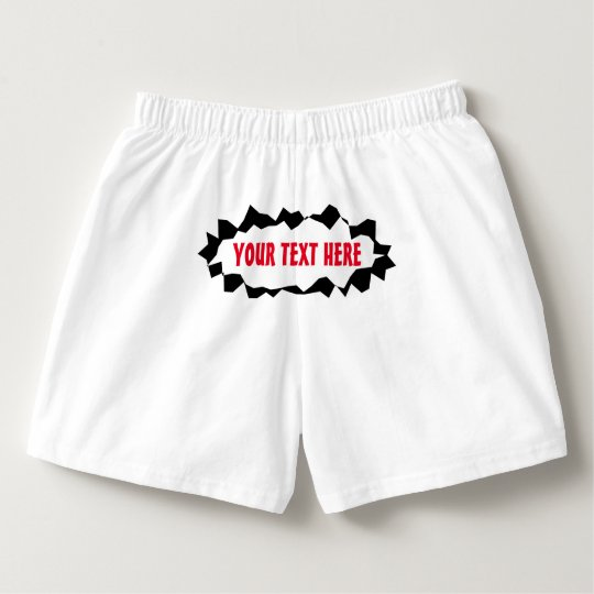 Funny ripped hole boxer shorts for men boxers