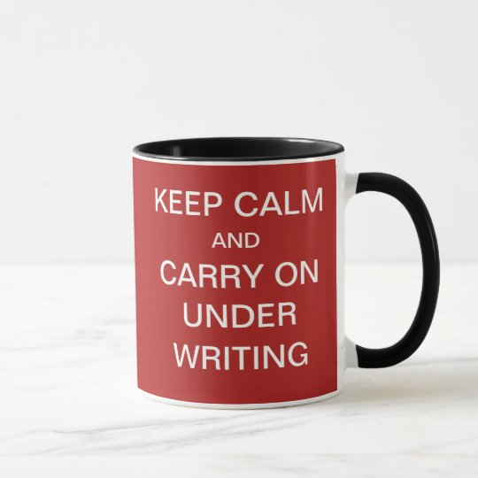 Funny Risks Underwriting Quote Underwriter Joke Mug