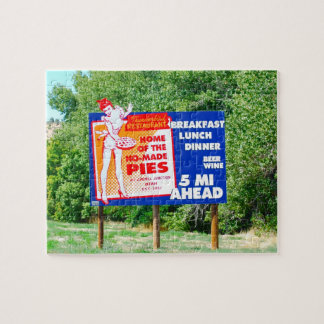 Funny Road Signs Ho-Made Pies Jigsaw Puzzle