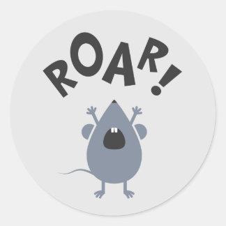 Funny Roar Mouse Design Classic Round Sticker