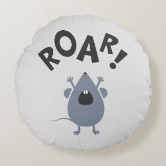 Funny Roar Mouse Design Round Pillow