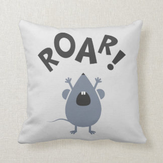 Funny Roar Mouse Design Throw Pillow