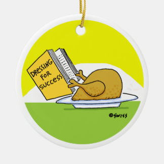 Funny Roast Turkey Christmas Tree Ornament
