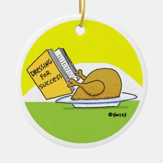 Funny Roast Turkey Christmas Tree Ornament