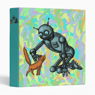 Funny robot and cat binder design