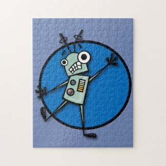 FUNNY ROBOT GRAPHIC ILLUSTRATION VERTICAL PUZZLE