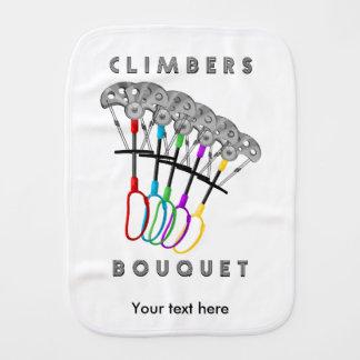 Funny Rock Climbers Bouquet Burp Cloth
