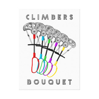 Funny Rock Climbing Bouquet Canvas Print
