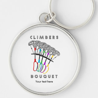 Funny Rock Climbing Bouquet Keychain