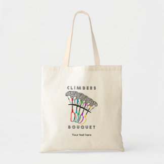 Funny Rock Climbing Bouquet Tote Bag