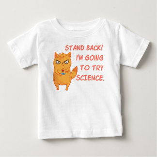 Funny Rocket Science Neon Scientist Kitty Cat Baby T-Shirt