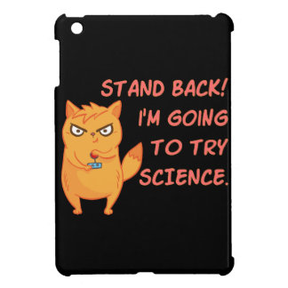 Funny Rocket Science Neon Scientist Kitty Cat iPad Mini Covers