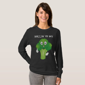 Funny Rollin' Up My Broccoli Vegetable Weed T-Shirt