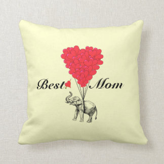Funny romantic elephant best mom throw pillow