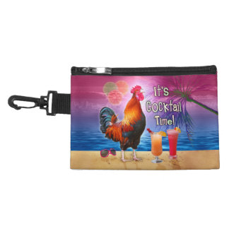 Funny Rooster Chicken Drinking Tropical Beach Sea Accessory Bag
