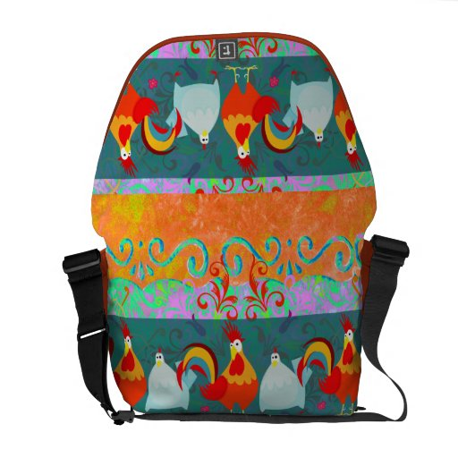 Funny Rooster Hen Funky Chicken Farm Animal Gifts Courier Bag