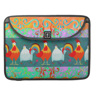 Funny Rooster Hen Funky Chicken Farm Animal Gifts Sleeves For MacBook Pro