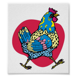 Funny Rooster Poster