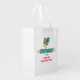 Funny Roosters Reusable Grocery Bag