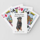 Funny Rottweiler Playing Cards