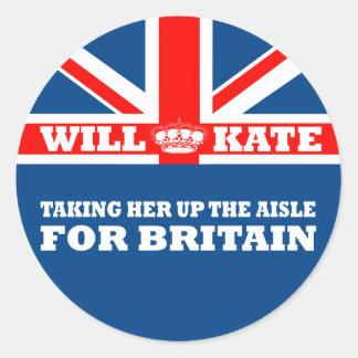 Funny Royal Wedding Round Sticker