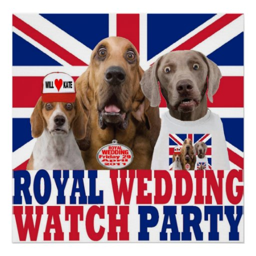 Funny Royal Wedding Watch Party Poster