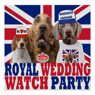 Funny Royal Wedding Watch Party T-shirt Poster
