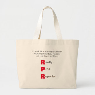 Funny RPR Court Reporting Large Tote Bag
