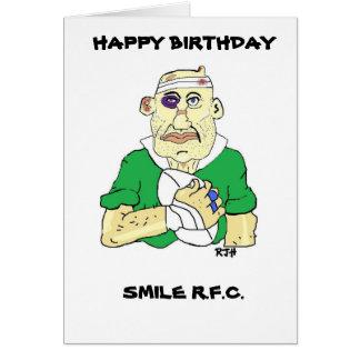 FUNNY RUGBY BIRTHDAY CARD