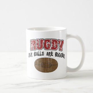 Funny Rugby Our Balls Are Bigger Classic White Coffee Mug