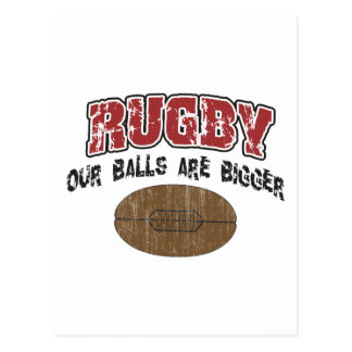 Funny Rugby Our Balls Are Bigger Postcard