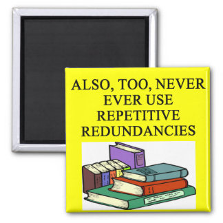 funny rules for writers magnet