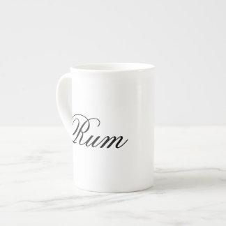 Funny rum hipster humor coffee tea humorous bone china mug
