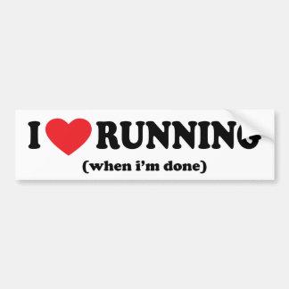 funny running bumper sticker