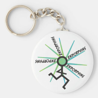 Funny Running Endorphins Keychain